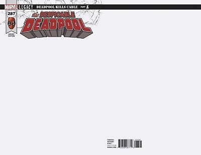 Despicable Deadpool 287 Blank For Sketch Variant Legacy Nm