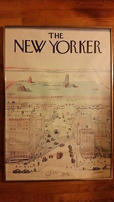 "SAUL STEINBERG ""The New Yorker"" OFFSET 1976 LITHOGRAPH"