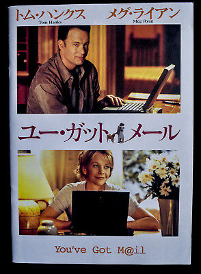 1998	YOU'VE GOT MAIL Deluxe Japanese Movie Program Tom Hanks, Meg Ryan
