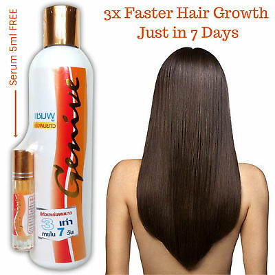 Genive Long Hair Fast Growth Shampoo Helps Your Hair to Lengthen Grow Longer.