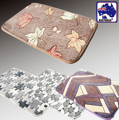 Anti-slip Home Carpet Mat Bathmat Door Floor Shaggy Rug Absorbent Puzzles HCARP