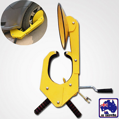 Auto Car Vehicle Wheel Clamp Disc Lock Antitheft Security Heavy Duty VQLC69601