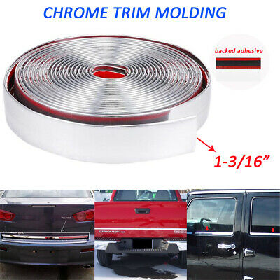 12ft 30mm Width Embellish Trim Strip Adhesive Auto Taligate Tail Lights Roof