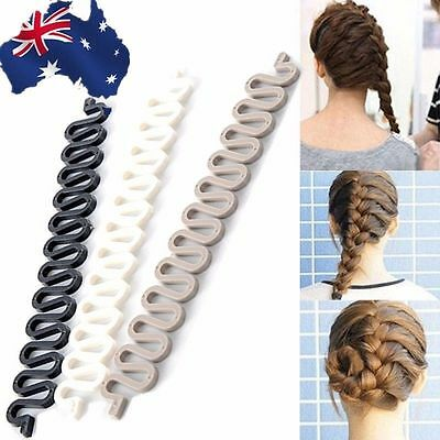 2pcs Fish Bone Hair Braiding Braider Tool Roller Twist Styling Bun Maker JHCOM14