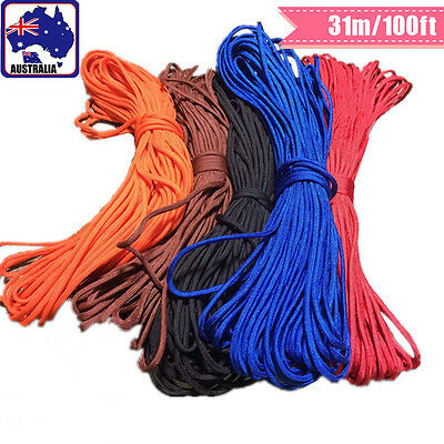 100ft Paracord Parachute Cord Guy Rope Lanyard Utility 7 Core Survival OPROP 31
