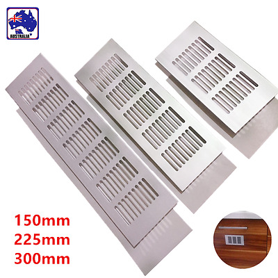 150/225/300mm Aluminum Alloy Air Vent Louvred Cover Ventilation Grille TENW544