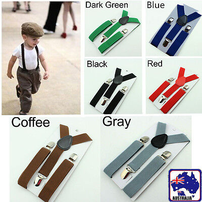 Kids Y-Back Toddler Clip-on Elastic Child Suspenders Adjustable Braces CSUSP 06