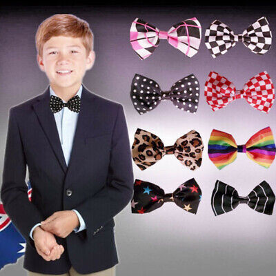 Boy Bowtie Solid Plain Color Classic Neckwear Adjustable Bow Tie Formal CBTIE 90