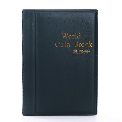 New Collecting 120 Coins Storage Holder Money Penny Album Book Pockets Folder