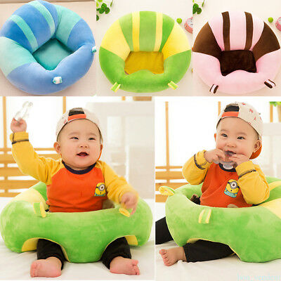 Striped Soft Baby Support Seat Chair Car Cushion Sofa Plush Pillow Toys Gift RYQ