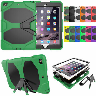 Heavy Hard Stand Case Cover + Screen Protector For iPad 9.7 2017 5th Gen A1822