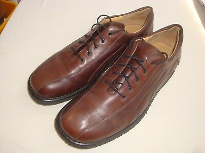 MANZ made in Germany, Men's High Quality Brown Leather Shoes Size 14, LIKE NEW