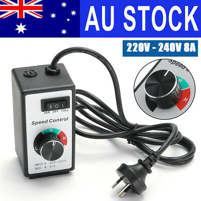 AU 8A 220V-240V Variable Speed Controller Control Motor Rheostat For Router Fan