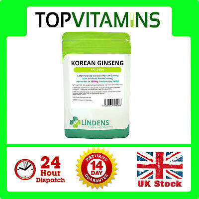 Korean Red Ginseng (Panax) 1300mg 100 Tablets ✰ Energy Boost, Health ✰