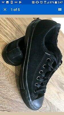 Converse ,Rare,  winter , all star , unisex , suede trainers ,pumps, gym ,black