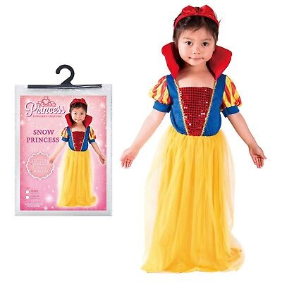Ages 1-4 Girls Snow Princess Fancy Dress Party Costume Halloween Infant Toddler