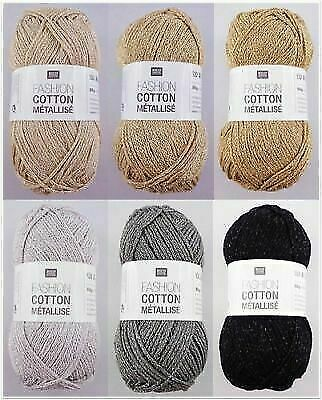 50g Fashion Cotton Métallisé Glitzergarn Baumwolle Wolle Garn Stricken Häkeln