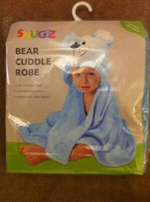 SNUGGZ BEAR CUDDLE ROBE, Suitable From Birth, Soft Hooded Robe. **NEW**