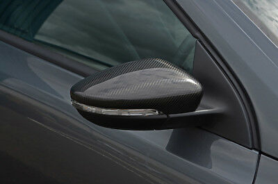 Carbon Fibre Wing Mirror Trim Set Covers To Fit Volkswagen Scirocco (2008+)