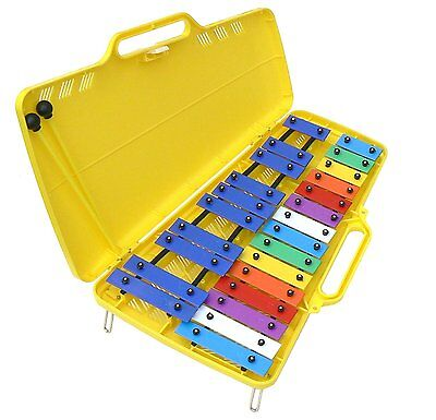 Quatro  Percussion TL25S 25 Note Chromatic Glockenspiel with Case and 2 Beater