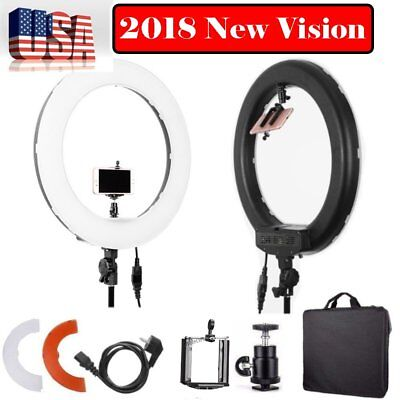 "18"" LED Photography Diva Ring Light Dimmable 5500K Lighting  Photo Video Make Up"