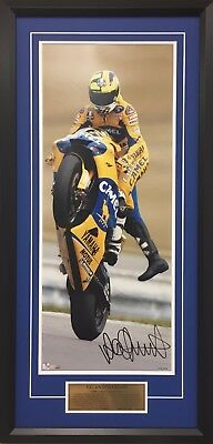 Valentino Rossi Camel Yamaha 2006 Framed Photo Signed Limited Edition Numbered