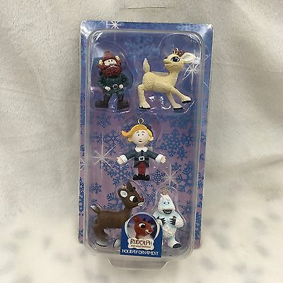 Rudolph The Red Nosed Reindeer Holiday Ornaments Set Enesco, New 4004283