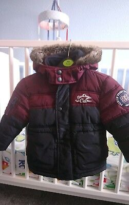 baby boys 9-12 months winter padded coat