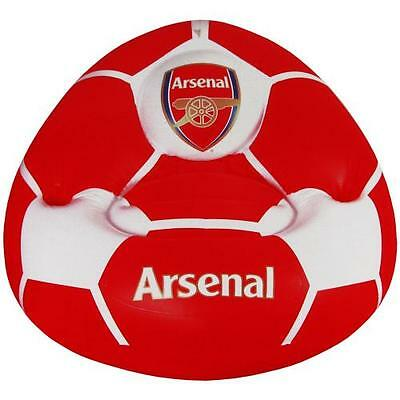 Arsenal Inflatable Chair Red Crest Gift Fun Official Licensed Football Product