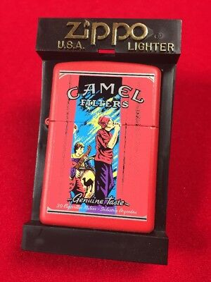 Camel Genuine Nights The Band Red Matte Zippo Lighter Rare