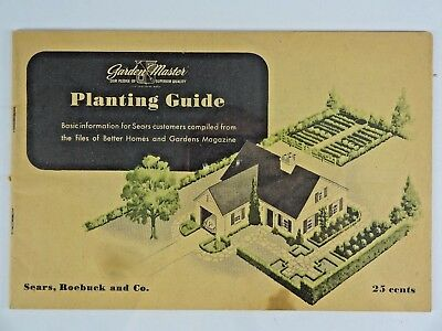 Vtg - Sears Tips Planting Guide From Garden Master 1943 - Sears Roebuck Booklet