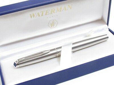 Vintage? Waterman Paris Fountain Pen Stainless Steel Original Box Good Condition