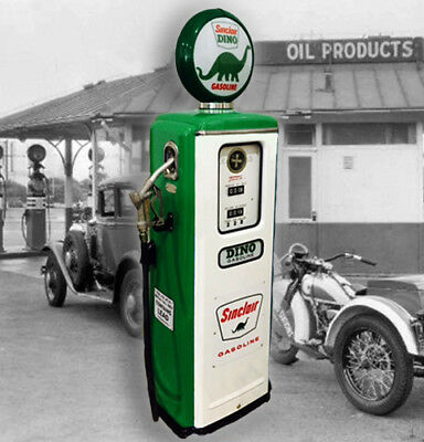 Sinclair Dino Tokheim Model 39 Full Size Gas Pump - Vintage Petroliana Style