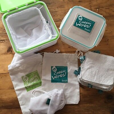 Cheeky Wipes Kit Washable Cotton Baby Wipes