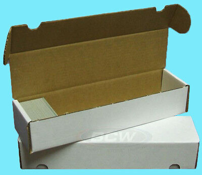 10 BCW 800 COUNT CARDBOARD CARD STORAGE BOXES Trading Sports Case Football MTG