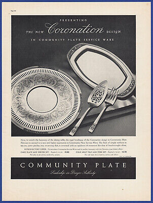 Vintage 1937 COMMUNITY PLATE Silver Flatware Dishes Silverware Print Ad 30's