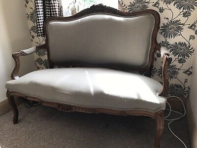 Louis French walnut salon sofa