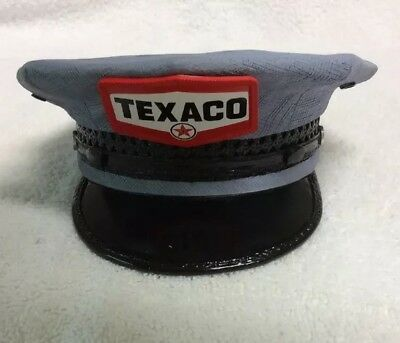 Texaco Fire Chief Resin Attendant's Cap Hat Collector's Bank Blue - Spec Cast