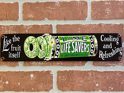 LIFESAVERS CANDY PORCELAIN DOOR BAR PUSH PLATE. BUY IT NOW . 😎 General Store.