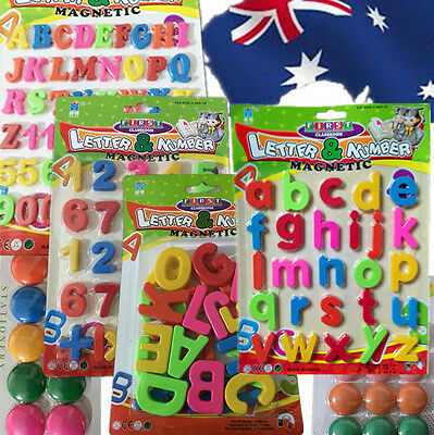 Kid Baby Educational Alphabets 26 Letters Upper Lower Case Numbers Magnets GWMEG