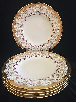 Minton 1873 Luncheon Dessert Plate Caldwell Co Bone China Dimentional Gold 9""