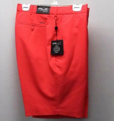 NEW Mens Size 40 Ralph Lauren RLX Coral Glow polyester golf shorts