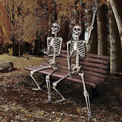 5 FT Full Body Skeleton Props Movable Joints Haunted House Halloween Decoration