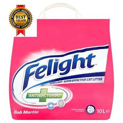 Bob Martin Felight Antibacterial Cat Litter, 10L NEW