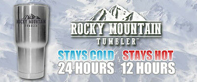 ROCKY MOUNTAIN TUMBLER x1 (Stay Hot Or Cold) Original As Seen on TV w/Free Post