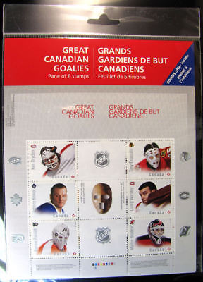 Canada - Sc #2866  Great Canadian Goalies from the NHL -  Pane - MNH  (sealed)