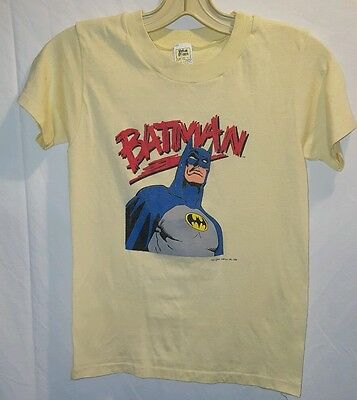 Vintage 1988 DC Comics Batman shirt youth L large yellow s/s women's S small