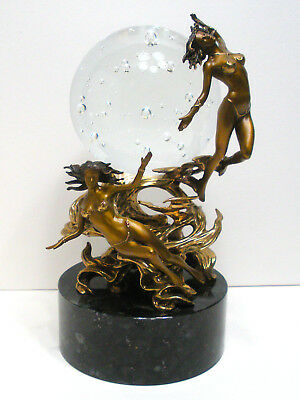 Franklin Mint Julie Bell PASSIONS OF THE FUTURE CRYSTAL BALL Bronze Sculpture