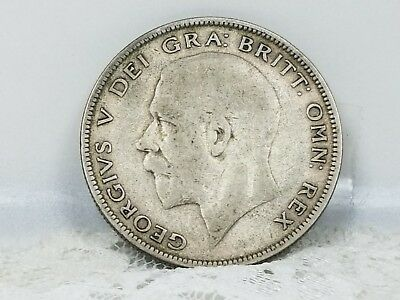1929 Great Britain Half Crown~Old Silver(.500) King George V Vintage Coin ~ #316