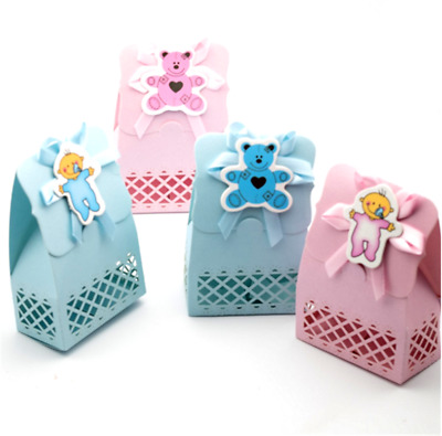 12X Baby Shower Favour Candy Boxes Bag Paper Boys Girls Wedding Party Decoration